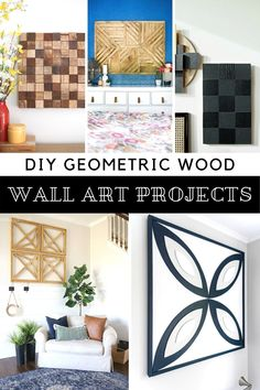 Ideas for DIY Geometric Wall Art // Here are 10 fun DIY projects to bring some modern geometric flair to your walls! Most are made using wood to create a geometric design. These projects are easy and look great! #geometricart #diywallart #geometricwallart Diy Wood Wall, Diy Wall Art, Wall Art Decor, Table Setting Inspiration, Daily Inspiration, Room Inspiration, Cool Diy Projects, Art Projects, Weekend Projects