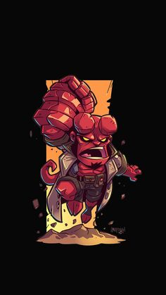 Hellboy Wallpaper, Deadpool Wallpaper, Marvel Wallpaper, Avengers Cartoon, Marvel Cartoons, Chibi Marvel, Marvel Art, Funny Phone Wallpaper, Hero Wallpaper