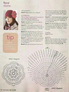 espace lilas: diagrammes crochet chapeaux / crochet chapeaux diagrammes