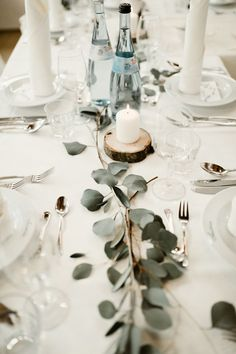 Positively Sweet Pastel German Wedding at The Waldvogel Hotel Junebug Weddings Elegant minimalist wedding reception table with greenery rustic details and candles Image by Kaley from Kansas Minimalist Wedding Reception, Wedding Reception Ideas, Elegant Wedding, Wedding Favors, Wedding Planning, Dream Wedding, Wedding Dinner, Wedding Pastel, Glamorous Wedding