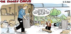 Family Circus Cartoon for Jul/21/2013               Aline