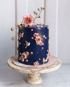 Gorgeous Cakes, Pretty Cakes, Amazing Cakes, Cupcake Cakes, Cupcakes, Bolo Fit, Wedding Cakes With Flowers, Flower Cakes, Flower Cake Decorations