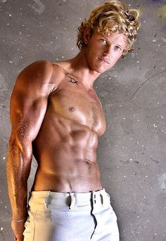 Hunky blonde with killer six pack