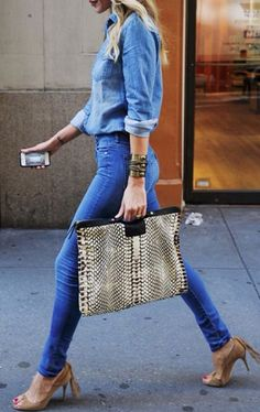 Denim from head to toes!