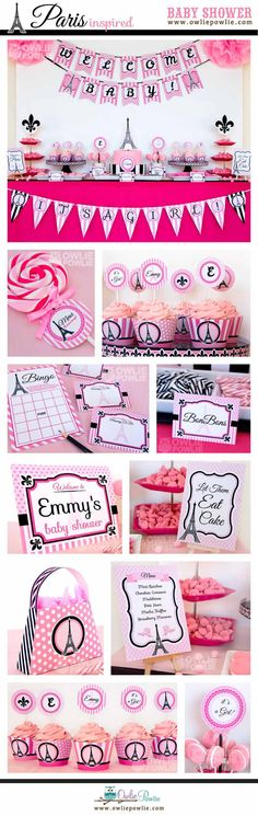 Paris BABY Shower Party Printable Package-DIY