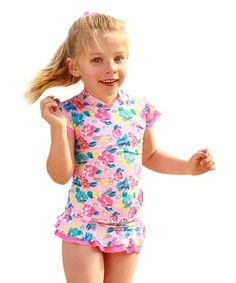 Loving this Pink Lemonade Rashguard & Diaper Cover - Infant on #zulily! #zulilyfinds