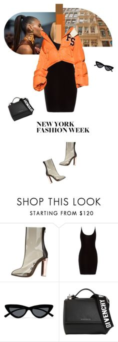 """""""I'm established hundred carats on my name"""" by sunshineb on Polyvore featuring Yeezy by Kanye West, Le Specs, Givenchy, NYFW, outfit, fashionWeek, fw and newyorkfashionweek"""