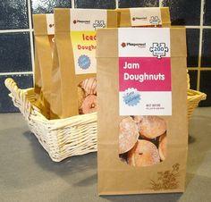 Novelty 200 piece jigsaw puzzle 'Jam Dougnuts' in bag. £6.00, via Etsy.
