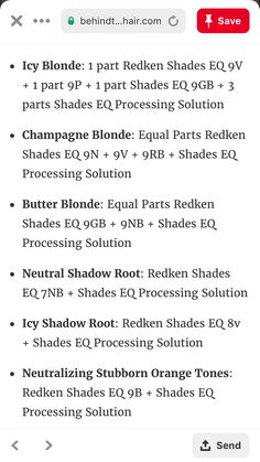 Redken Color Formulas, Hair Color Formulas, Blonde Hair Makeup, Cool Blonde Hair, Hair Cutting Techniques, Hair Color Techniques, Redken Hair Color, Ashy Hair, Redken Hair Products