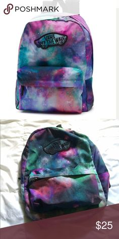 Vans Galaxy Backpack Has some wear on the bottom inside, but otherwise is in good condition. Only used part of the school year. Make an offer. Vans Bags Backpacks