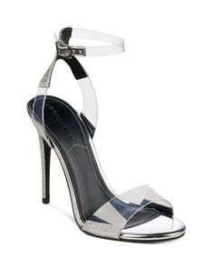 Kendall Kylie Black clear Enya high heel shoes 5.5