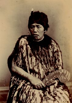Mere Awhitu wife of King's son Pulman Studio (Active 1867 – 1900) Albumen photograph Circa 1880 Size: 15 x 10.5 cm.