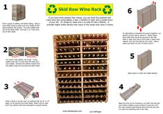 Making a wine rack out of pallets