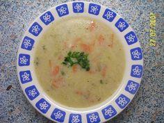 Vonava porova polievka so zeleninkou. Cheeseburger Chowder, Soup, Fruit, Soups