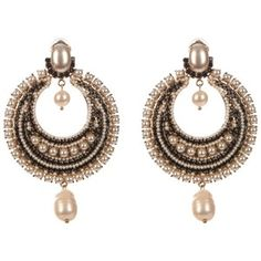 Givenchy Black Pearl clip-on earrings