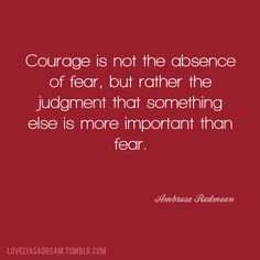 Truth! I won't let my fear get the best of me. I'll have courage and take this step of faith. Thank you Lord for everything you have done for us up to this point and for everything that is to come. ♡