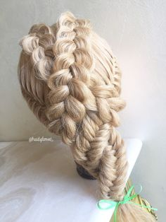 Dutch/French fishtail braids