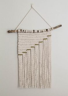 Macrame Wall Hanging Gold Series II | Etsy Modern Macrame, Macrame Art, Macrame Design, Macrame Projects, Macrame Knots, Micro Macrame, Macrame Wall Hanging Patterns, Macrame Patterns, Hanging Tapestry