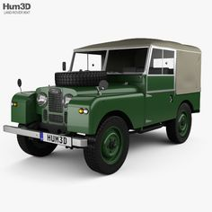 Land Rover Series I 80 Soft Top 1953  3d model from Hum3d.com.