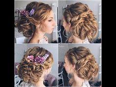 ★ EASY BIRDAL UPDO Hairstyles || Wedding Hairstyles For medium hair - We...