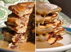 Wow! Bread Pudding Pancakes with Bourbon Butter Maple Sauce from Sunny Anderson. The bourbon maple sauce alone is worth pinning!