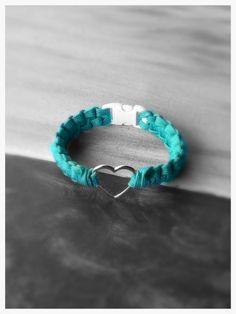 Paracord Charm Bracelet by NorthGeorgiaParacord on Etsy, $8.00