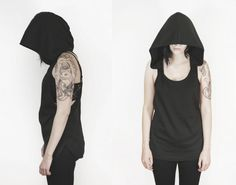 The Witching Hour tunic tank Black by SOVRIN on Etsy