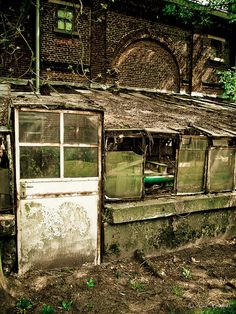 Abandoned greenhouse by BenBamm, via Flickr