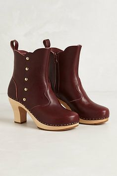 Button Booties #anthropologie - by Swedish Hasbeens