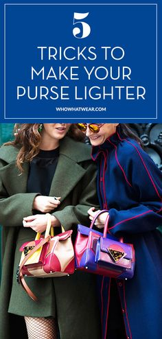 5 smart and easy ways to lighten your heavy purse load. // #Tips #Tricks