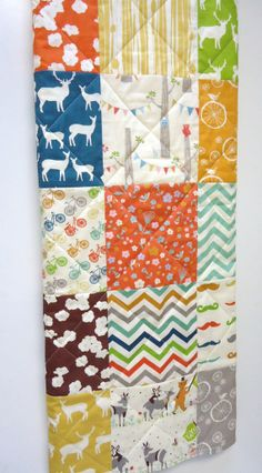 Gender Neutral Baby QuiltModernOrganicRustic by NowandThenQuilts, $99.00