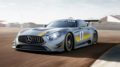 Mercedes takes its latest sports car to the racing circuit as the new AMG GT3, ready to debut at the 2015 Geneva Motor Show.
