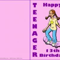 Happy 13th Birthday Cards Printable