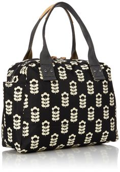 ETC by Orla Kiely Womens Little Sweetpea Printed Zip Handbag Bowling Bag 15RELSP092 Coral: Amazon.co.uk: Shoes & Bags
