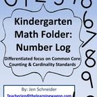 Kindergarten Math Folder: Number Log 0 - 20  This product is focused on encouraging support from home with Common Core Counting & Cardinality S...