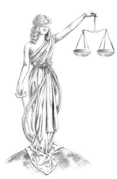 Dike—Greek goddess of justice Arte Libra, Scales Of Justice Tattoo, Body Art Tattoos, Sleeve Tattoos, Tatoos, Greek Goddess Tattoo, Angel Tattoo Drawings, Balance Tattoo, Guardian Angel Tattoo