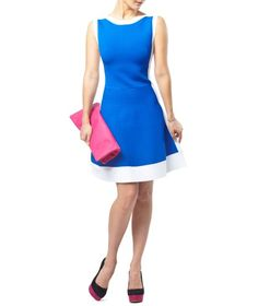 PINK TARTAN  Power Stretch Panel Dress  $425.00