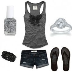 """#cute summer outfit  I like the consistency of the color scheme & I usually don't like """"matchy matchy"""" looks.<3 Nikki"""
