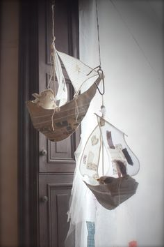 Hanging Ships... Reminds me of Peter Pan! Definitely need to have a ship sailing above the party!