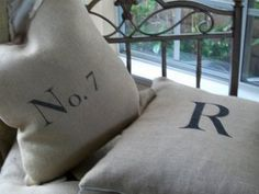 lots of drop cloth ideas - pillows, curtains, etc.