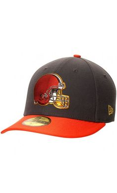NFL Men s Cleveland Browns New Era Graphite Gold Collection On Field Low  Crown 59FIFTY Fitted Hat f9a4c7f5e4db