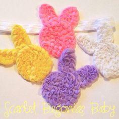 Peep bunny rosette headband  on Etsy, $6.00