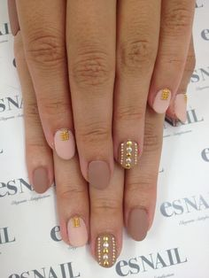 Gold Studded Nails