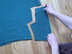 Infant or toddler pants made from a t-shirt; also this blog have hundreds of activities to sew and do