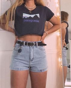 , Edgy Summer Outfits Casual Outfits- # Casual # Summer-Edgy Summer Outfits Summer outfits women, summer outfits for te. Crop Top Outfits, Edgy Outfits, Curvy Outfits, Girl Outfits, Classy Summer Outfits, Summer Outfit For Teen Girls, Summer Outfits Women, Spring Outfits, Looks Vintage