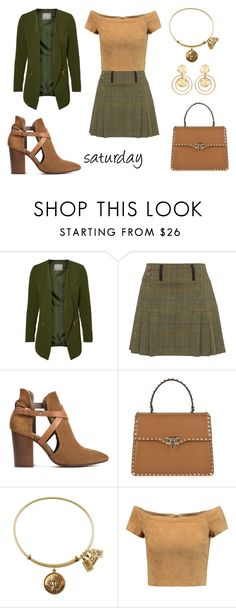 """saturday look"" by aliciagorostiza ❤ liked on Polyvore featuring H London, Valentino, Alice + Olivia and Kenneth Jay Lane"