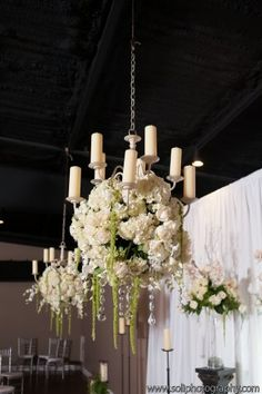 Beautiful Floral Chandelier - Stratton Hall - Chattanooga, TN