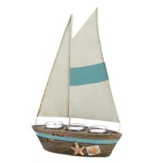 SAILBOAT CANDLE DECOR