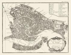 Vintage Map Venice Italy 1764 van Imagerich op Etsy, $30.00