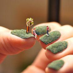 Miniature Fingernail Landscapes